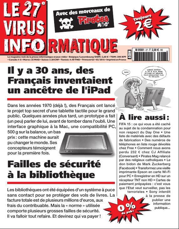 Le Virus Informatique n°27 (février 2016)